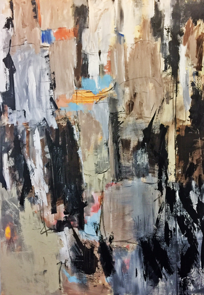 Rock and Roll 2 60x48 - Rock and Roll 1-36x24 - painting by Susan Proehl