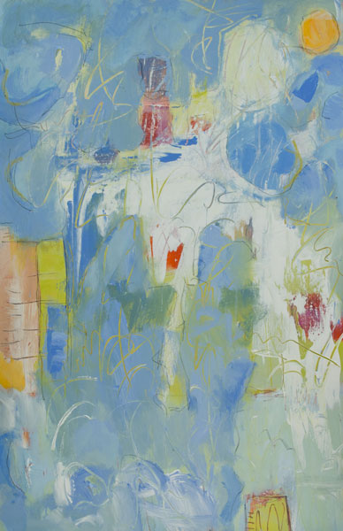 Blue Whimsy - Painting by Susan Proehl